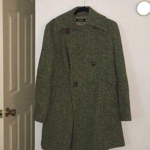 Green Guess Pea Coat NWOT